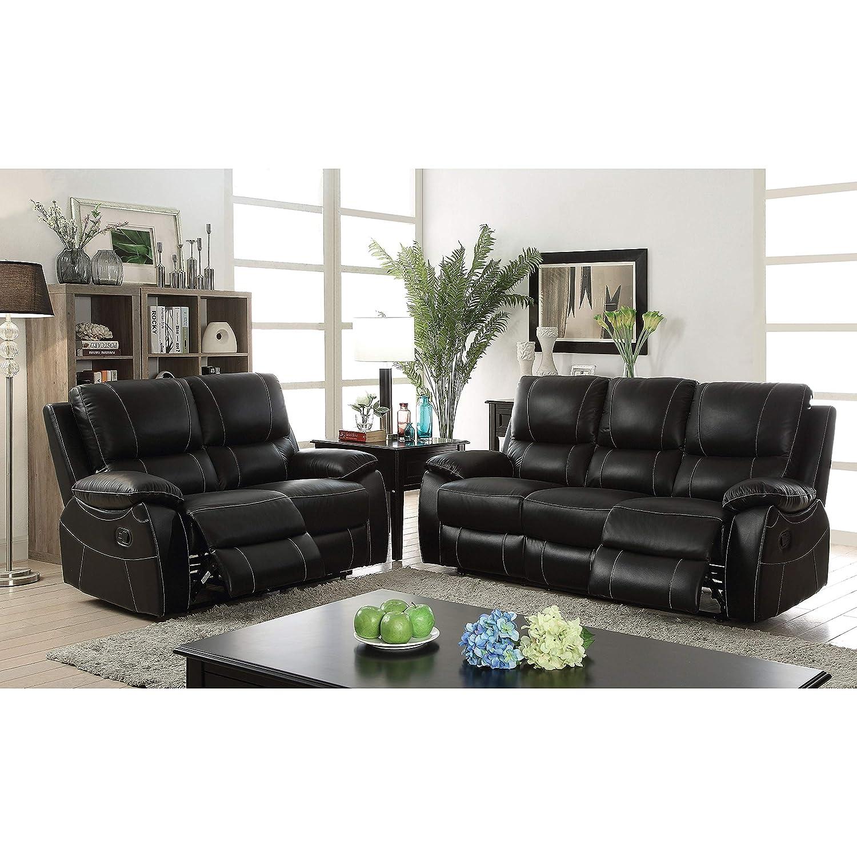 Amazon Com Furniture Of America Neler Contemporary 3 Piece Black