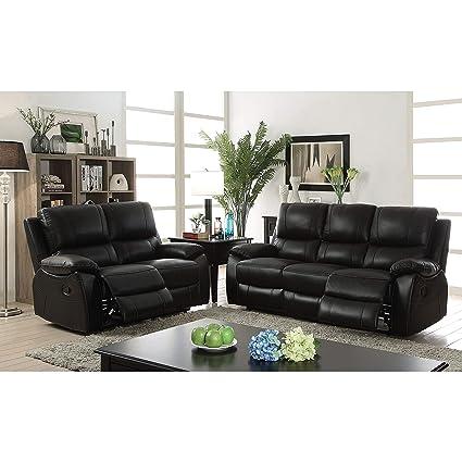 amazon com furniture of america neler contemporary 3 piece black rh amazon com