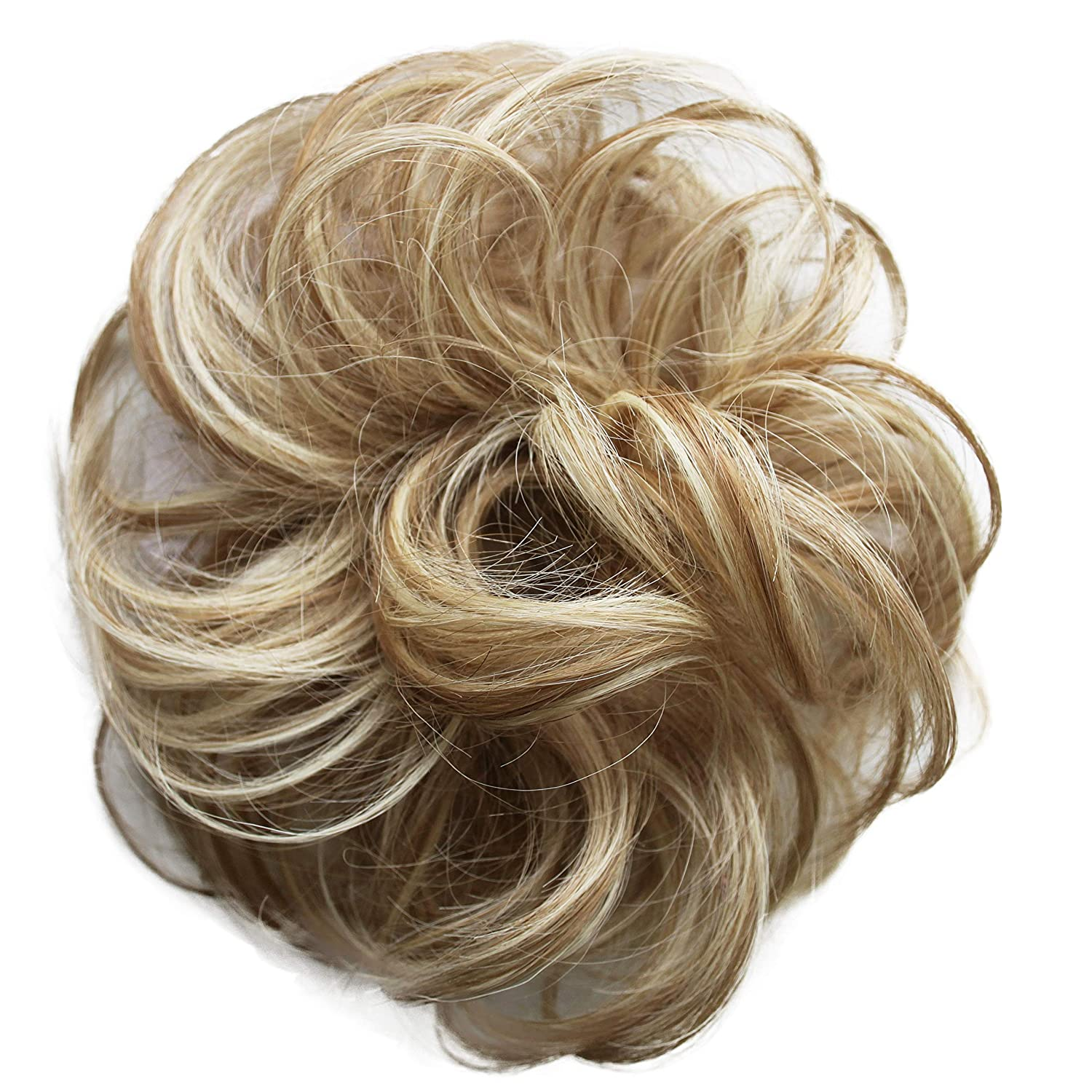 PRETTYSHOP 100% Human Hair Up Scrunchie Scrunchy Extensions Hairpiece Do Bun Ponytail Diverse Colors (blonde mix #27H613) H312