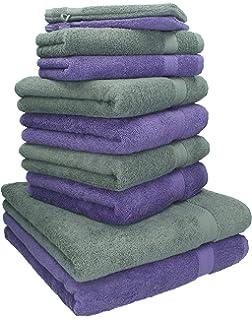 Betz 10 Tlg Handtücher Set 100% Baumwolle 2 Duschhandtücher 4 Handtücher 2  Gästetücher 2 Waschhandschuhe