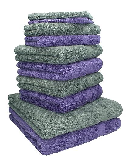 BETZ Juego de 10 toallas PREMIUM 100% algodón 2 toallas de baño 4 toallas de