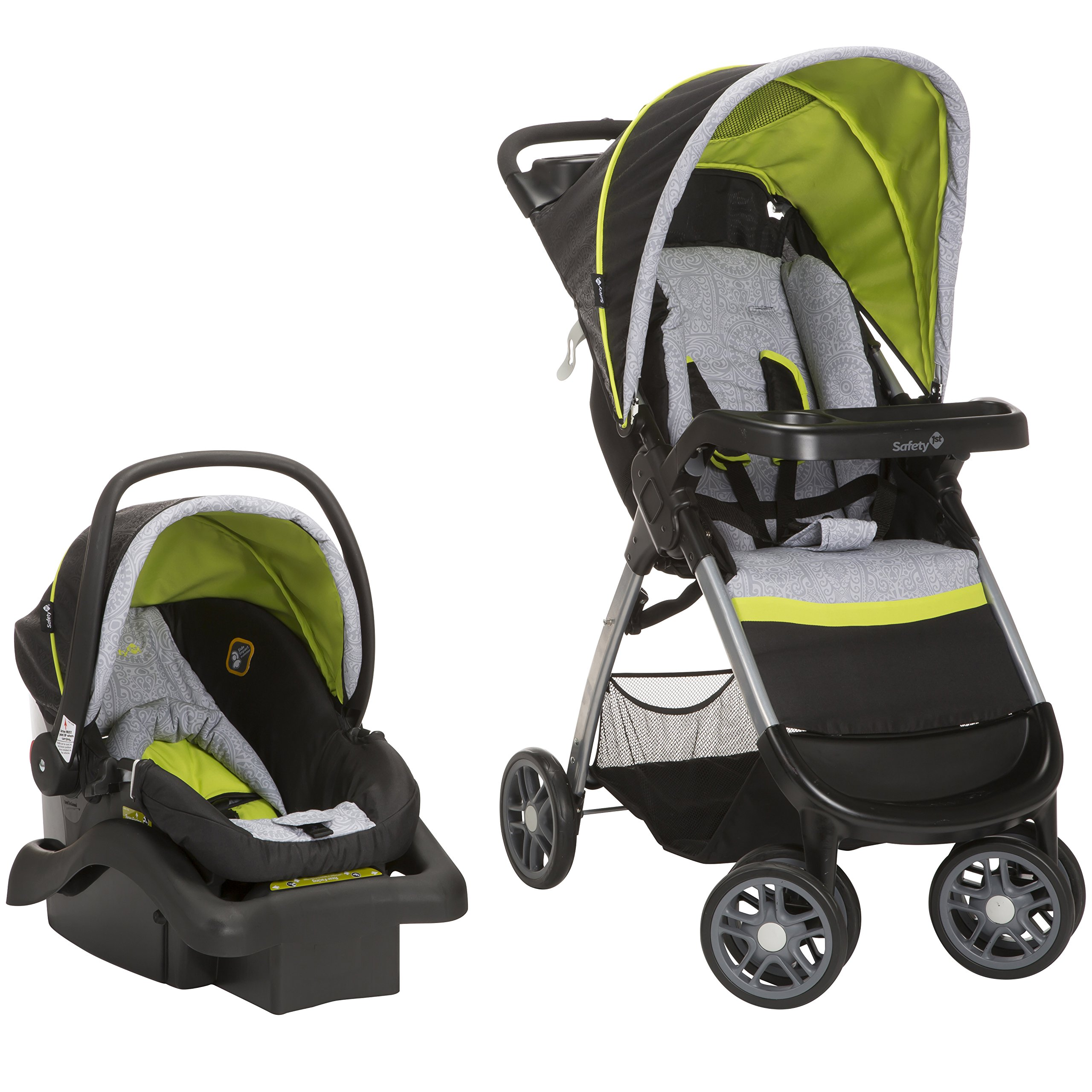 Safety 1st Amble Quad Travel System with Onboard 22 Infant Car Seat, Polynesian