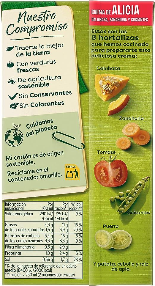KNORR Crema Alicia, calabaza, zanahoria y guisantes, pack de ...