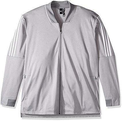 07e0d8e68 adidas Men's Athletic Id Tricot Bomber, Medium Grey Heather, X-Small