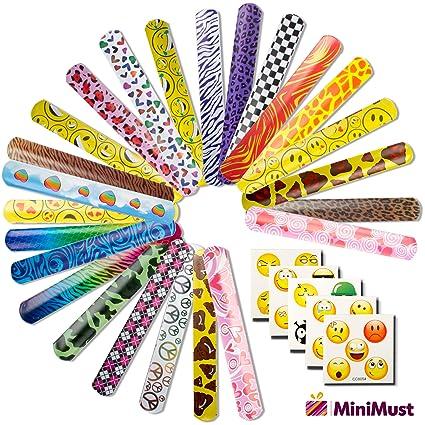 Amazon.com: MiniMust - 50 pulseras/bandas (24 diseños) + 50 ...