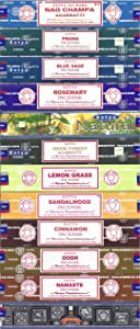 Satya Bangalore (BNG) Incense Set of 12 Nag Champa Namaste Super Hit Neem Forest Prana Oodh Sage Cinnamon Lemongrass Rosemary Natural Sandalwood