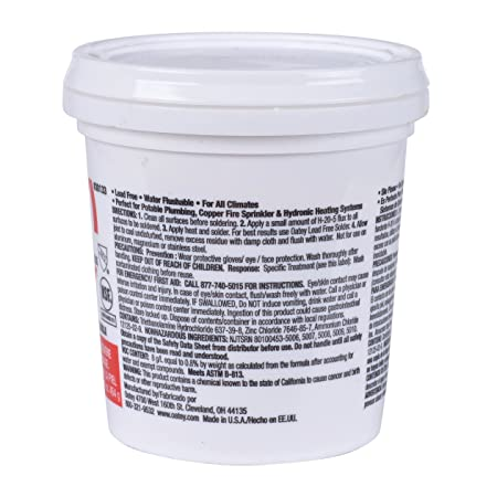 Oatey 30133 H-205 Water Soluble Paste Flux, Liquid, 16 Oz 16-Ounce - Soldering Cleaning Products - Amazon.com