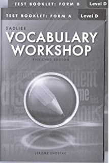 Amazon. Com: vocabulary workshop: test book, level d, form a.