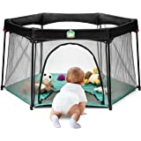 Infant Pack and Play Portable Playard - Baby Playpen Suitable for Indoor or Outdoor Use - Weather Resistant Canvas - Extra Playpen Handle Bag for Simple Storage │BABYSEATER Pop N' Play