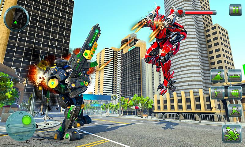 Hipopótamo Robot Coche Transformando juegos - Batalla de la ciudad: Amazon.es: Appstore para Android