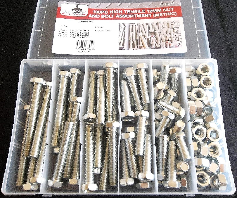 10-Pack The Hillman Group 44566 Full Threaded Hex Cap Screw Zinc Metric M8-1.25 X 60