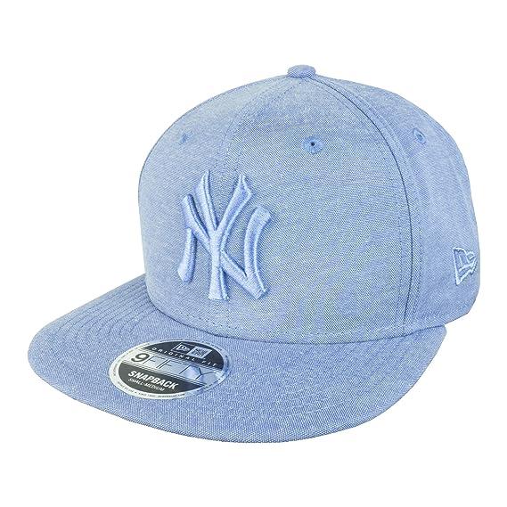 39436a9f181 New Era 9FIFTY Original Fit MLB Oxford New York Yankees Cap  Amazon.co.uk   Clothing