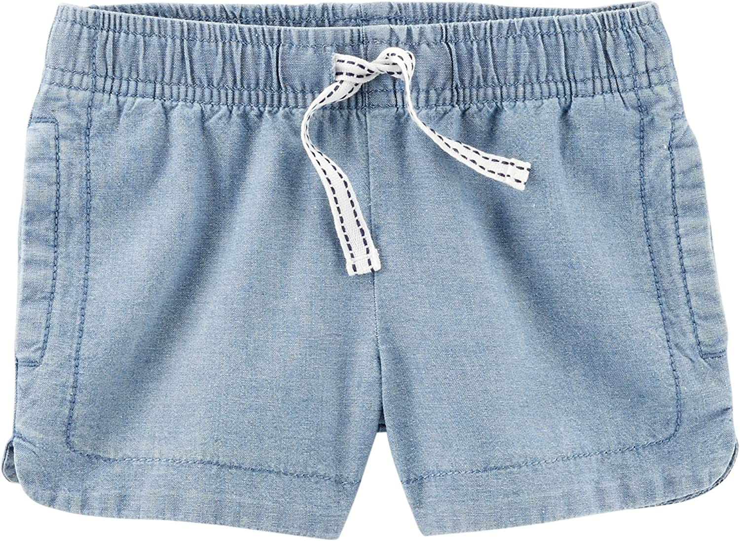 24 Months Carers Baby Girls Easy Pull-On Chambray Shorts