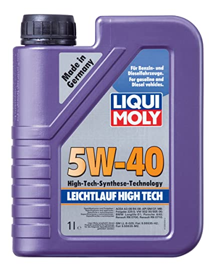 Amazon.com: Liqui Moly (2331 5W-40 Leichtlauf High Tech High Ash Synthetic Engine Oil - 1 Liter Bottle: Automotive
