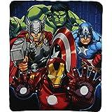 Kids Movie Characters Lightweight Fleece Blankets (Avengers Band of Heroes)