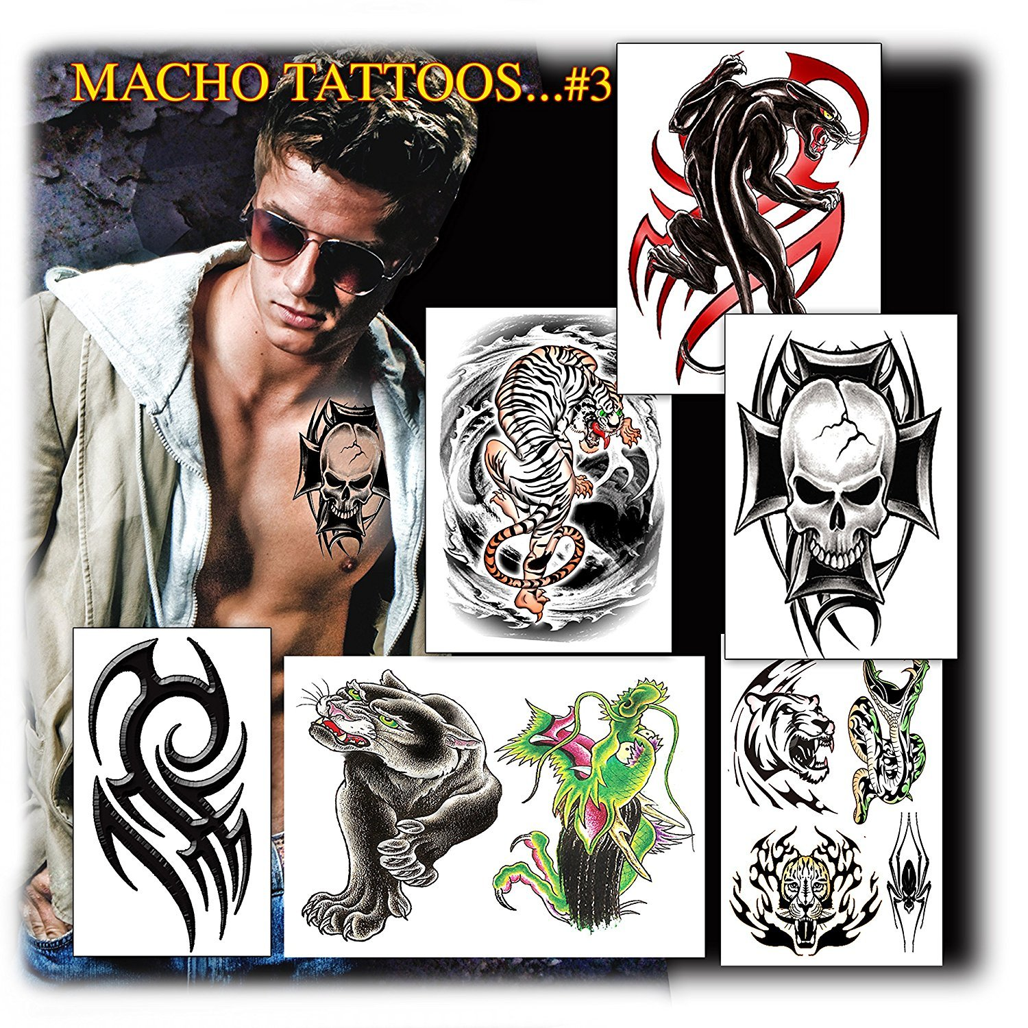 Tattoos for guys 2 beauty for Fake tattoos amazon
