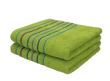 Betz 2 piezas Toallas de mano Set toalla Portugal Color Verde 2 toallas de mano de