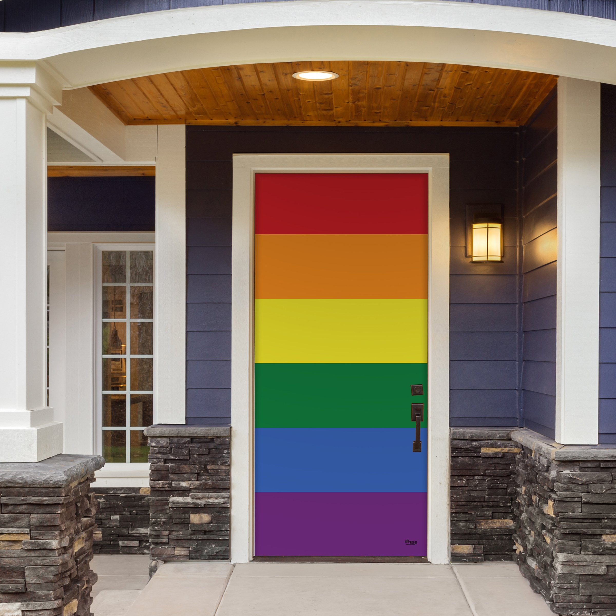 Victory Corps Original Pride - Outdoor PRIDE LGBT Garage Door Banner Mural Sign Décor 36'' x 80'' Front Door -The Original Holiday Front Door Banner Decor