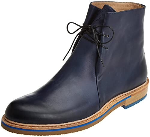 Neosens S095 Restored Skin Aris, Zapatos de Cordones Oxford para Hombre, Azul (Midnight), 42 EU