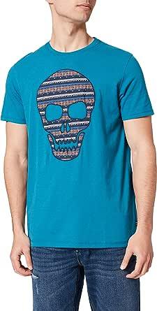 Springfield Camiseta Calavera Hombre