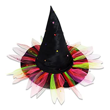 Age 4-8 Girls Witch Costume Hat Halloween Witches Fancy Dress Party Kids Child