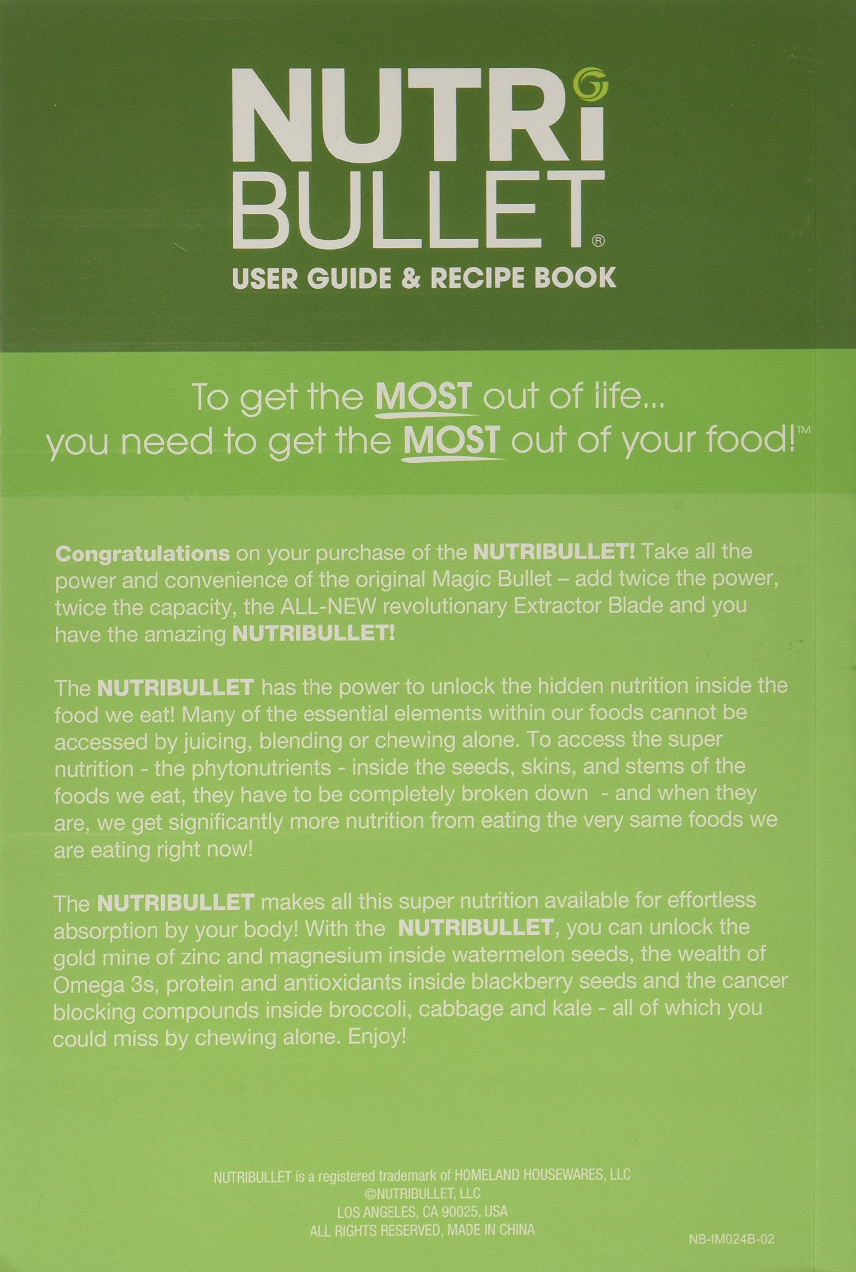 Nutribullet 900 series user guide recipe book nutribullet nutribullet 900 series user guide recipe book nutribullet amazon books fandeluxe Images