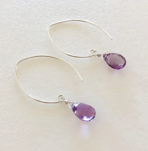 amethyst white shop and zales from de rose with plate sapphire earrings france best created drop lab gold silver sterling life in