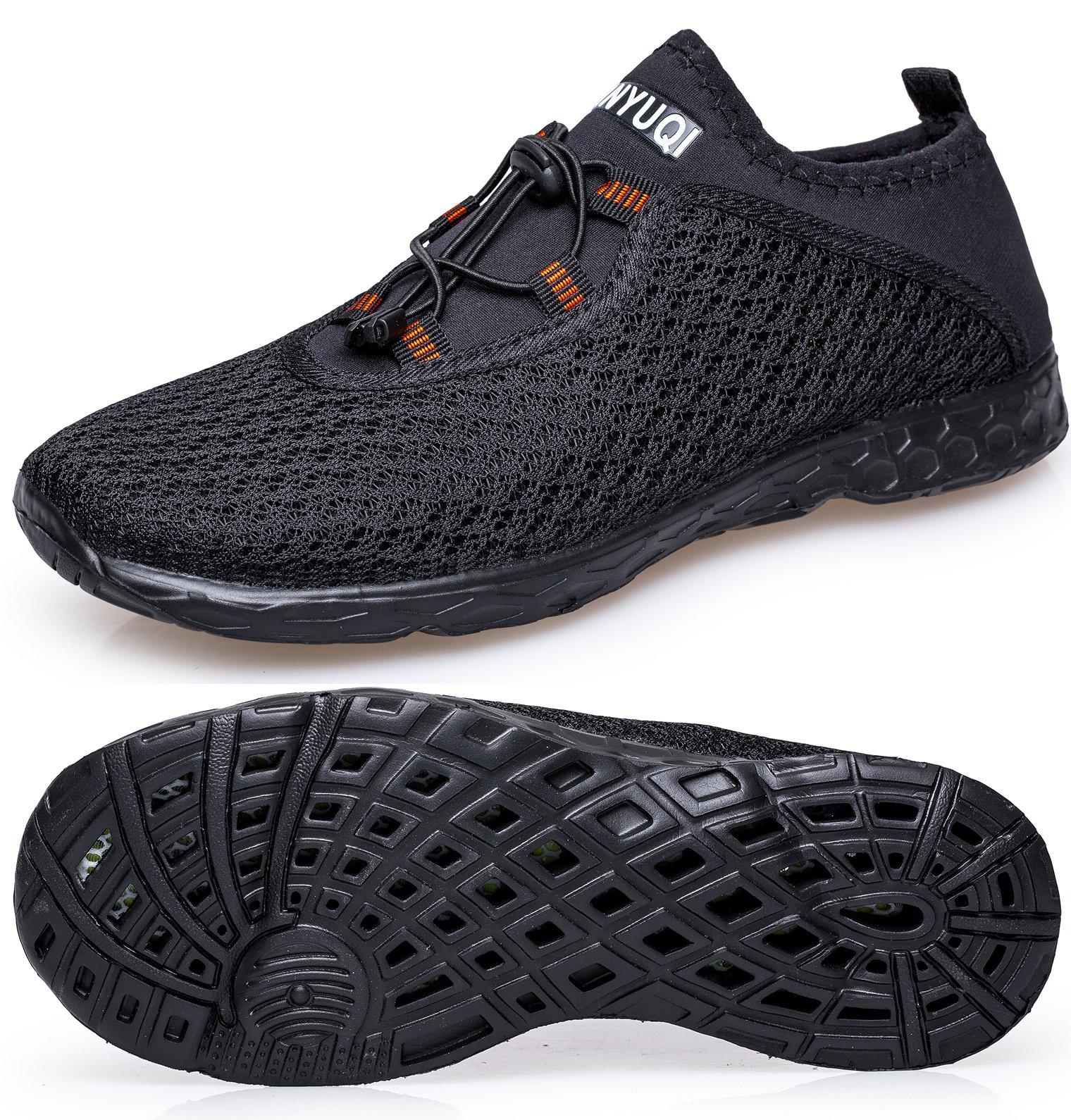 TIANYUQI Men's Mesh Slip On Water Shoes by TIANYUQI