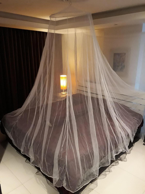 Moustiquaire XXL de Campito pour lits simples et doubles, idéale se protéger contre les insectes (baldaquin) World-Shop24.com