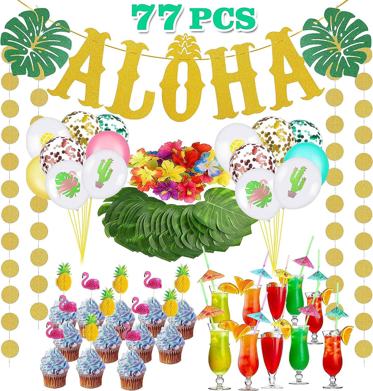 Hawaii Fleurs Guirlande Arc-en-ciel NEUF-Fête Article Décoration Carnaval