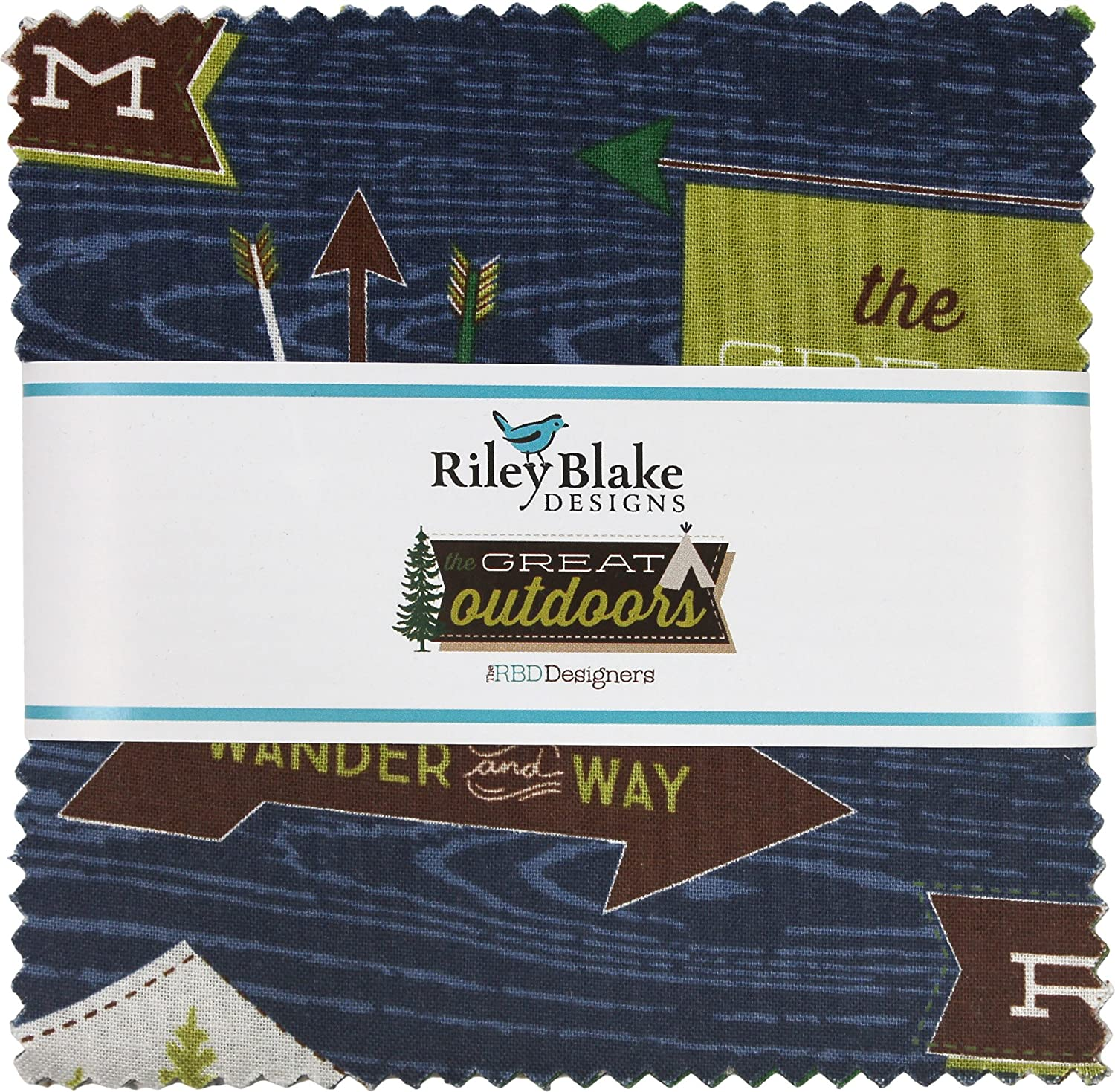 The Great Outdoors 5 Stacker 42 5-inch Squares Charm Pack Riley Blake Designs 5-6750-42 4336995248
