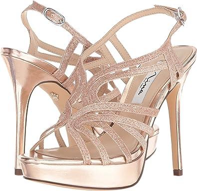 16675de76 Amazon.com | NINA Womens Solina High Stiletto Evening Sandals | Sandals