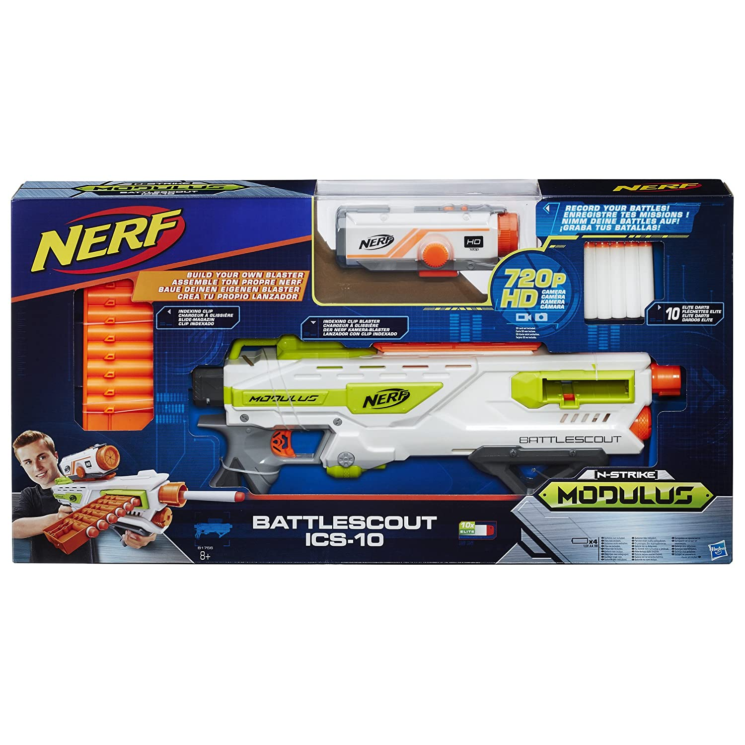 Hasbro Deutschland GmbH HAS65648 Nerf N-Strike Elite Modulus Battlescout  Ics-10 Cup And Ball Game: Amazon.co.uk: Toys & Games