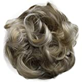 PRETTYSHOP Scrunchie Scrunchy Bun Up Do Hair Piece Hair Ribbon Ponytail Extensions Wavy Curly Messy ash bonde Mix #25H101 G32A