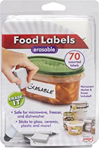 Jokari Label Once Erasable Food Labels with Markers