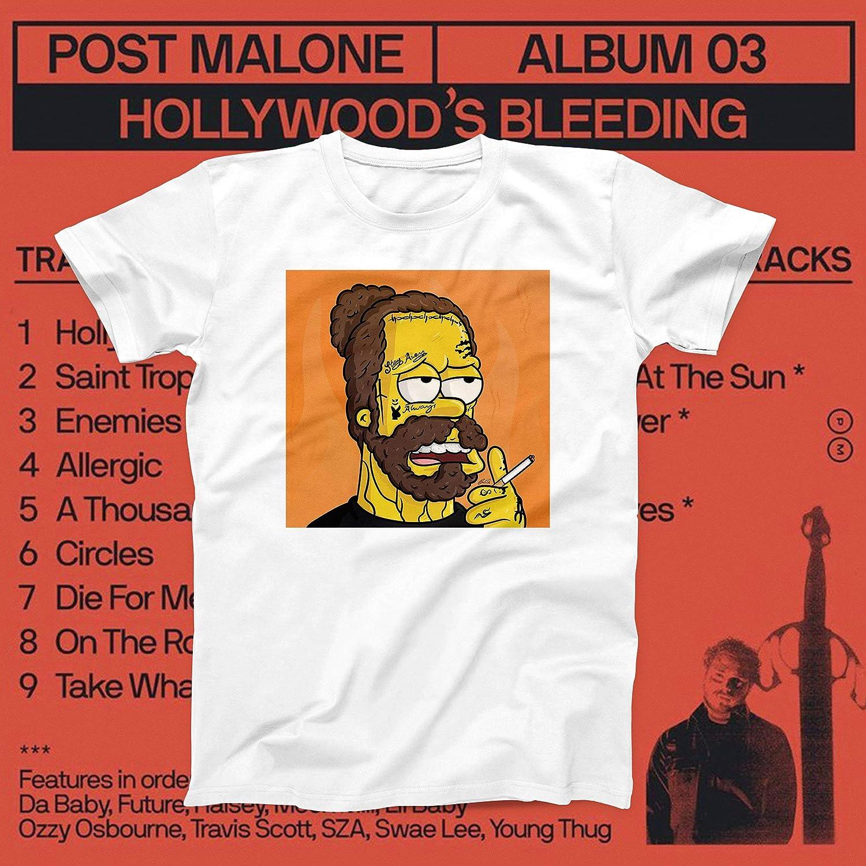 Post Malone Simpson Hollywood S Bleeding Posty 4 Shirts
