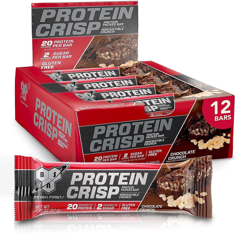BSN Inc. Syntha-6 Protein Crisp Bar, Chocolate 12 Bars