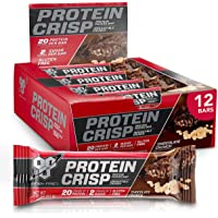 BSN Protein Bars - Protein Crisp Bar by Syntha-6, Whey Protein, 20g of Protein, Gluten Free, Low Sugar, Chocolate Crunch…