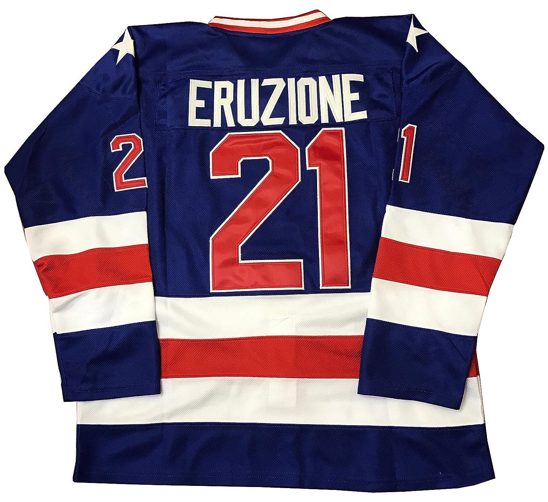 Mike Eruzione #21 1980 Miracle On Ice USA Hockey Jersey...