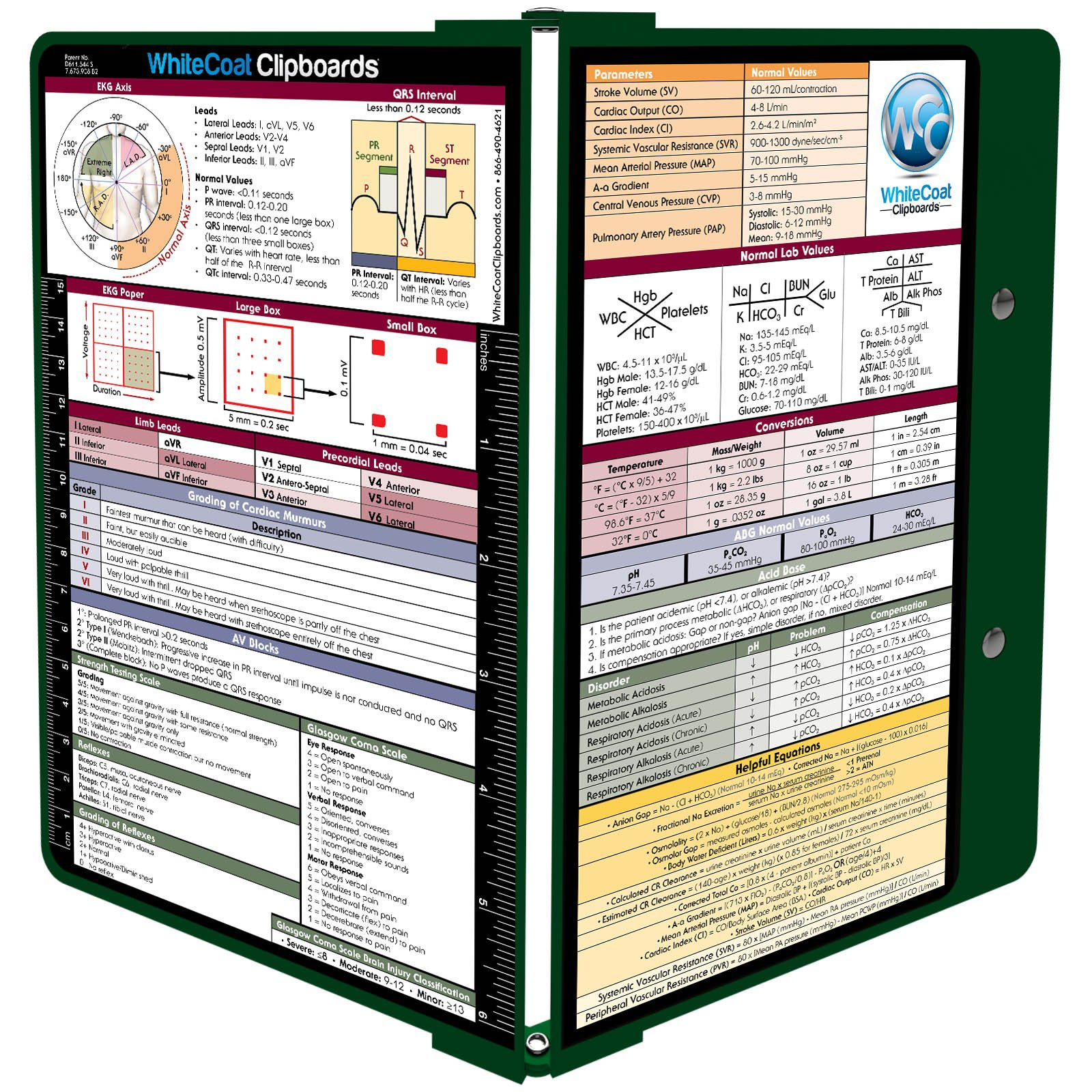 WhiteCoat Clipboard- Green- Medical Edition