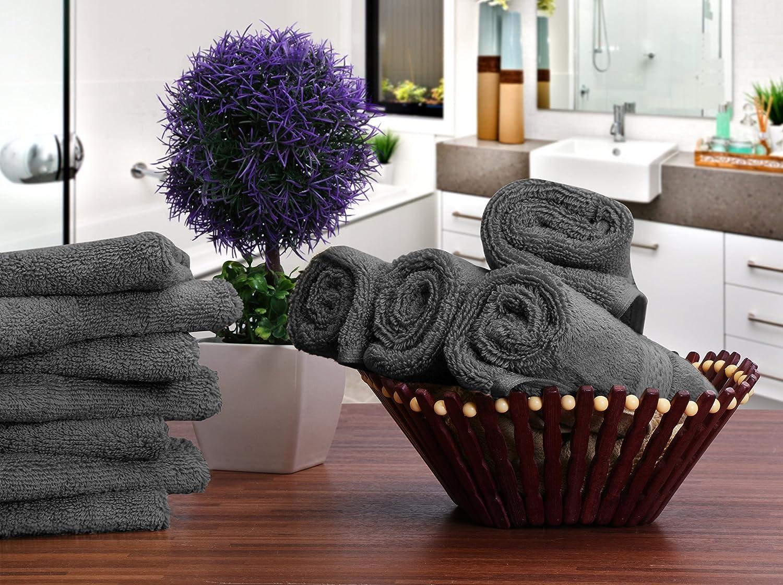 Utopia Towels Waschhandschuh 30 x 30 cm Grau Waschlappen aus Baumwolle 700 g//m/² Seift/ücher 12er Pack