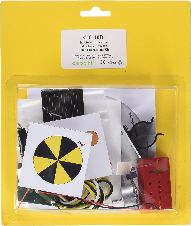 CEBEKIT- Kit didáctico. Ideal para Estudiantes y Principiantes.Completo Pack Solar para iniciarse en el Mundo de la energía fotovoltaica, Color Amarillo (C0110B)