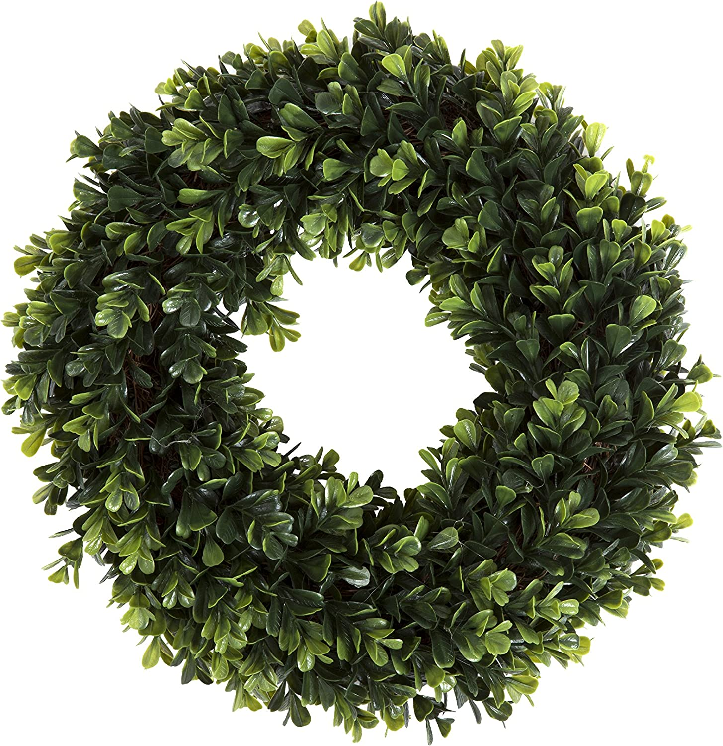 Boxwood Wreath Artificial Wreath For The Front Door By Pure Garden Home Décor Uv Resistant 12 Inches Home Kitchen