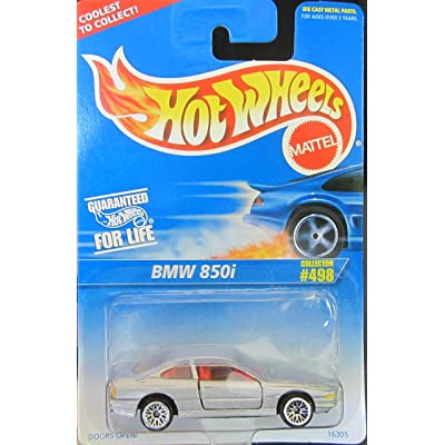 Hot Wheels BMW 850i (Silver Lace Wheels) Collector #498 on Blue & White Card: Toys & Games