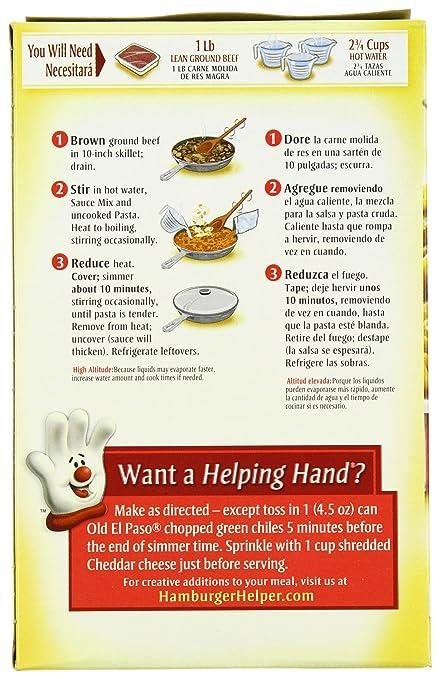 Amazon.com : Betty Crocker Hamburger Helper Chili Macaroni 5.2 oz Box : Grocery & Gourmet Food