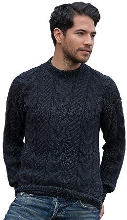 2c0a3097f Gamboa - Hand-Knitted Alpaca Sweater Men - Dark Grey at Amazon Men s ...