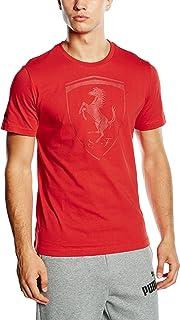 Puma Ferrari Big Shield - Maglietta da Uomo, Colore Rosso Corsa 02