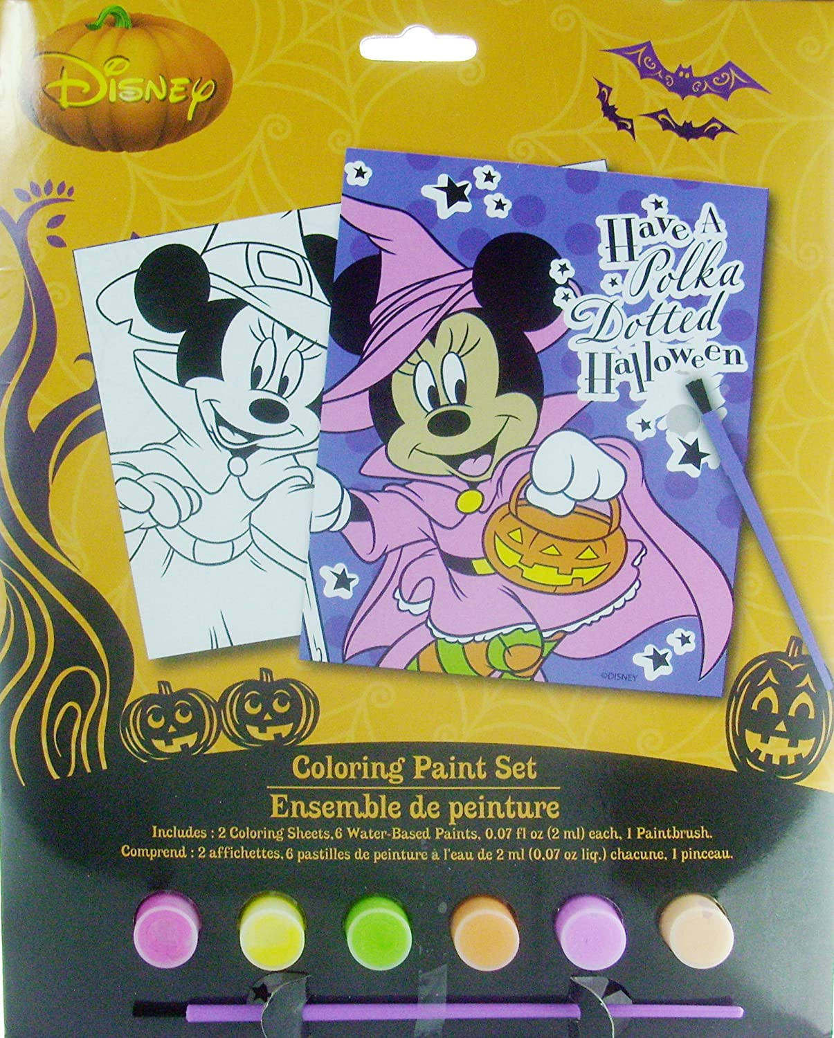Amazon.com: Disney Minnie Mouse Bows And Boos Halloween Fun Coloring ...
