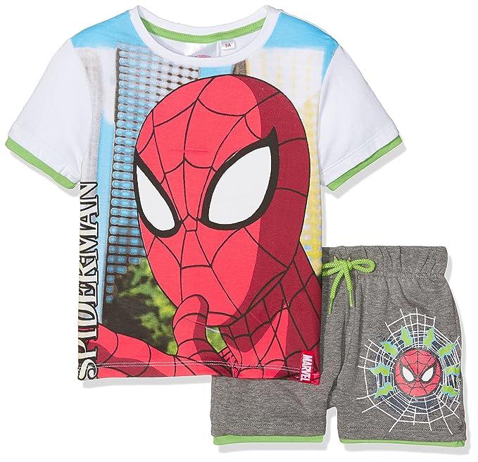 DC Comics Spiderman, Ropa Interior de Deporte para Niñas, Blanco, 2-3