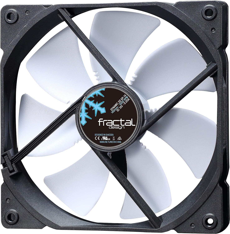Fractal Design Dynamic X2 GP-14 Computer Fan - Silent Fan - High Airflow – 140x140x25 mm – 1000RPM – Hydraulic Fdb Bearings – Trip Wire - Aerodynamically Shaped Struts – 12V - White (Single)
